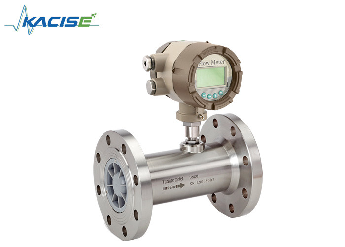 Stainless Steel Material Turbine Type Flow Meter High Accuracy For Petroleum Gas